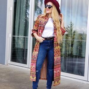 Boho Chic Suede Long Jacket
